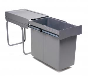 Pull-out waste bin, 30 L, plastic grey