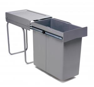 Pull-out waste bin, 40L, plastic grey