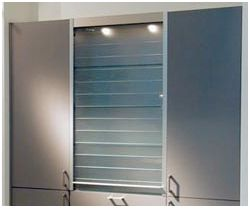 Hafele Glass And Frosted Glass Kitchen Tambour Units