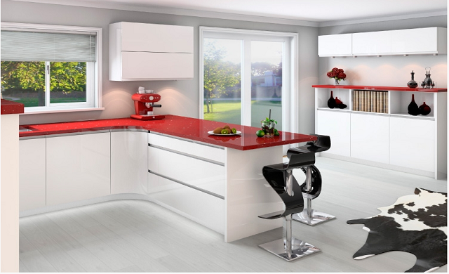 High Gloss Kitchens High Gloss Kitchen Doors In White Black Red