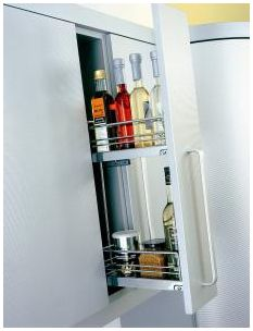 Wall pull-out, 150mm wide, chrome (KWP150C)