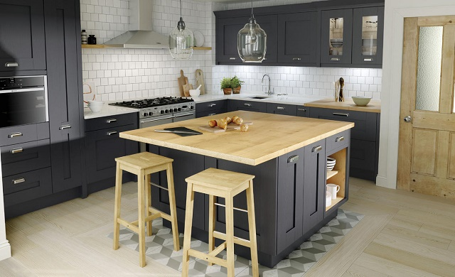 Milbourne collection charcoal second nature for Building traditional kitchen cabinets pdf