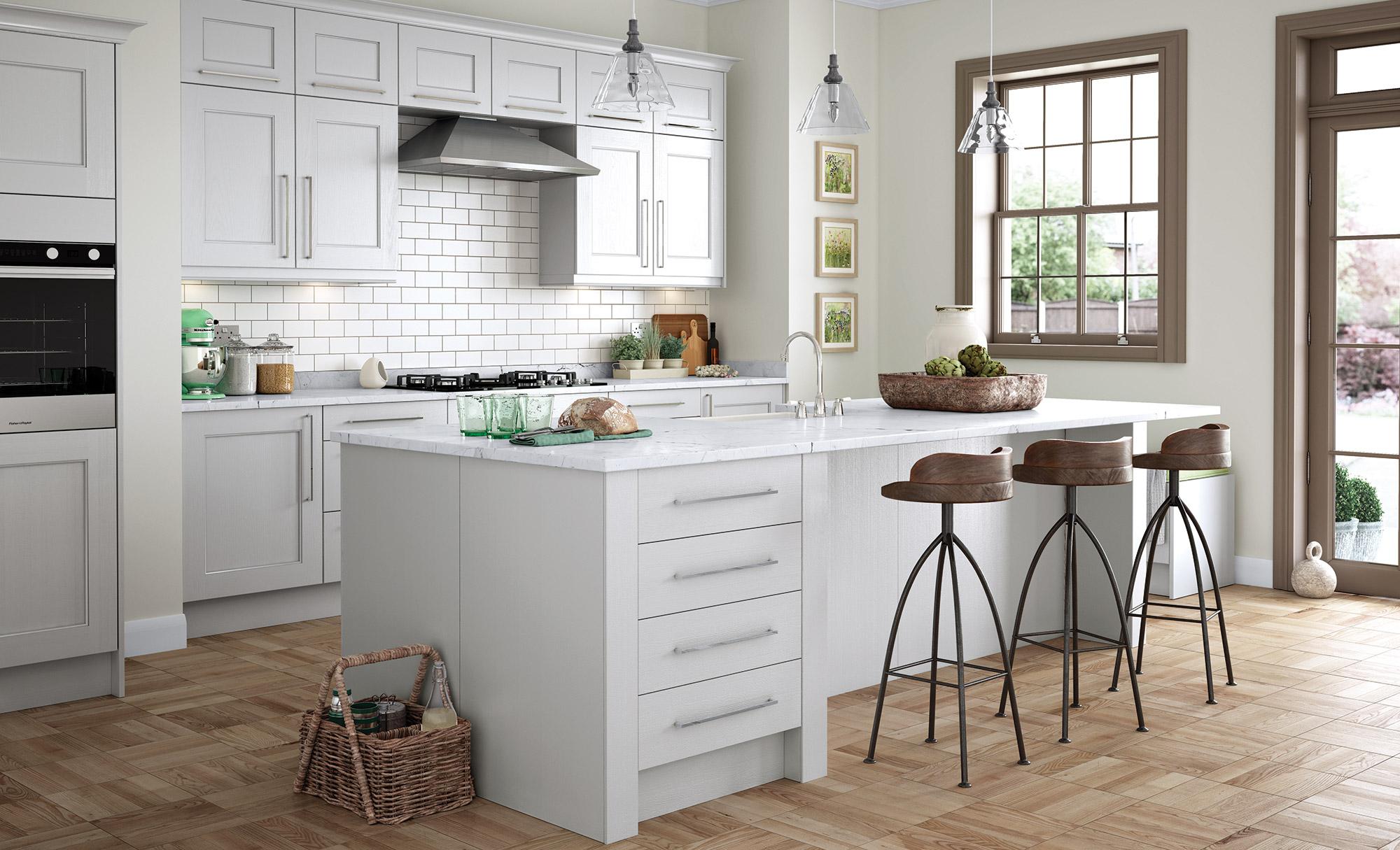Wakefield Painted Light Grey - Kitchen Stori