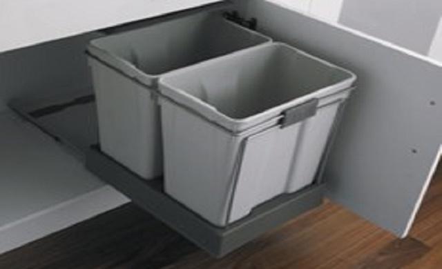 Pull Out Kitchen Waste Bin 2 X 30