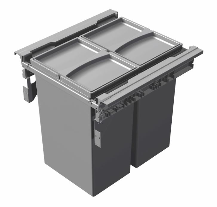 60 Litres, 400 Millimeters Pull-out Kitchen Waste Bin 2x30