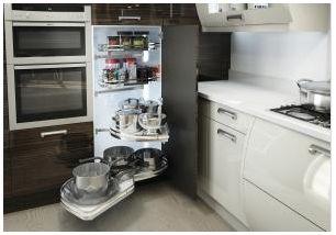 Kitchen Corner Storage Solutions Turnmotion Lemans