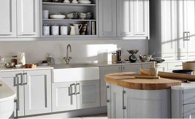 Kew Soft Grey Burbidge - Soft grey kitchen
