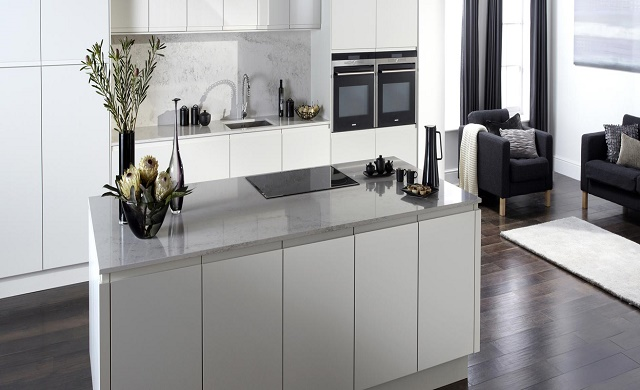Burbidge Malmo Collection - Matt porcelain Handleless & Malmo Matt Painted Porcelain Kitchen Handleless Door