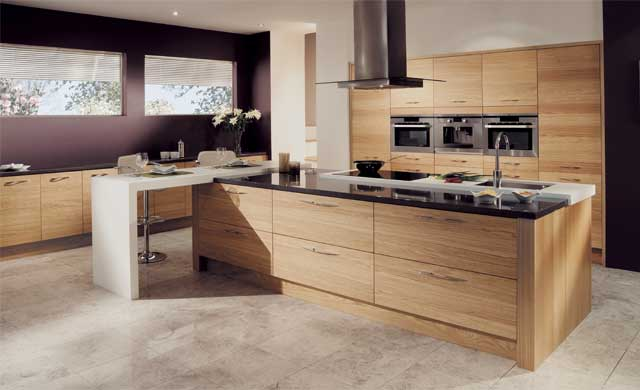 tavola stained light oak kitchen stori