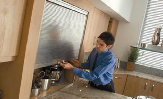 Kitchen Tambour Doors Units, How To Level Kitchen Unit Doors