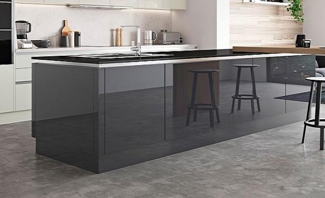 Zola Gloss Graphite Kitchen Stori - Graphite grey kitchen units