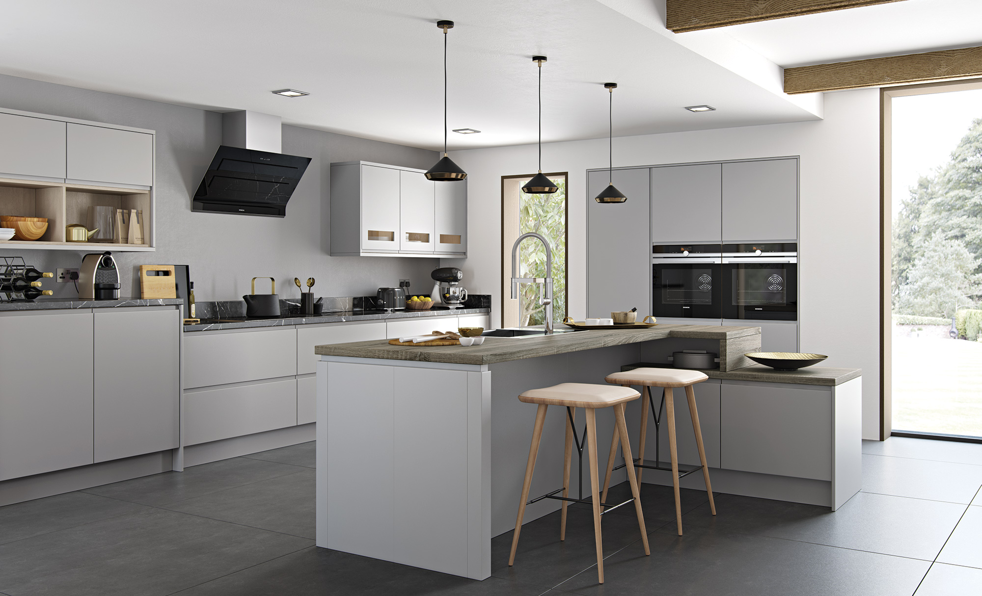 kitchen collection southton strada matt light grey kitchen stori 8674