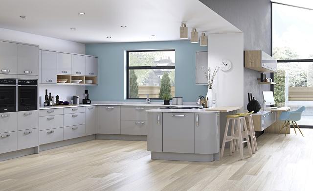 Zola Gloss Light Grey - Kitchen Stori